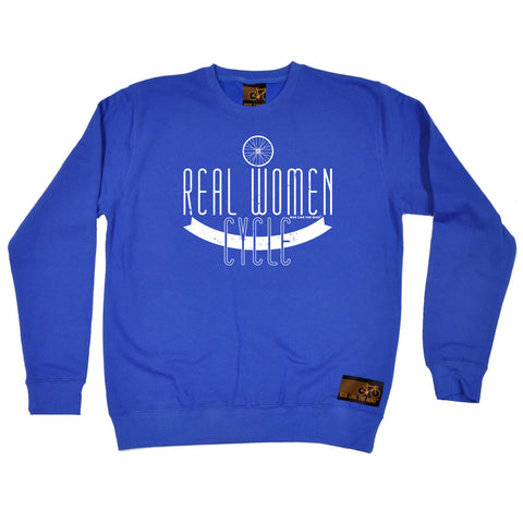 Ride Like The Wind Cycling Sweatshirt - Real Women Cycle - Sweater Jumper