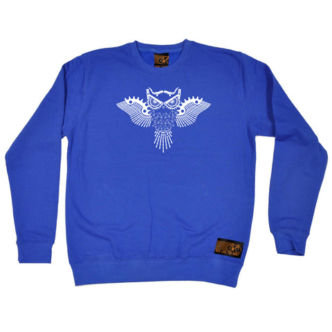 Ride Like The Wind Cycling Sweatshirt - Night Rider Owl - Sweater Jumper