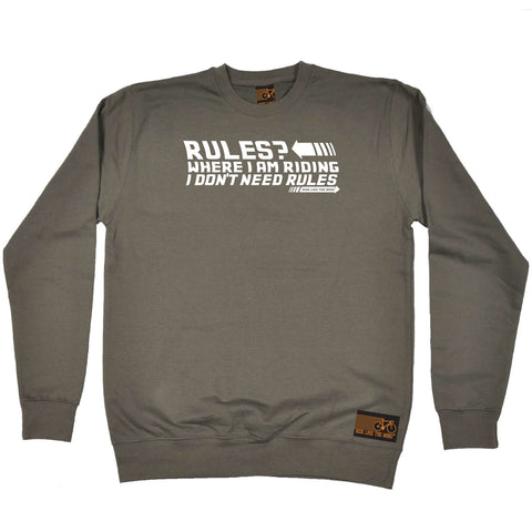 Ride Like The Wind Cycling Sweatshirt - Rules Where I Am Riding - Sweater Jumper