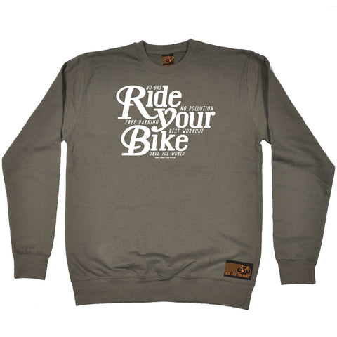 Ride Like The Wind Cycling Sweatshirt - Ride Your Bike - Sweater Jumper