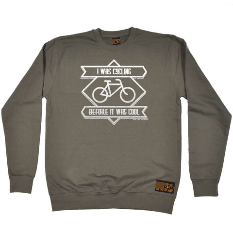 Ride Like The Wind Cycling Sweatshirt - Square I Was Cycling Before It Was Cool - Sweater Jumper