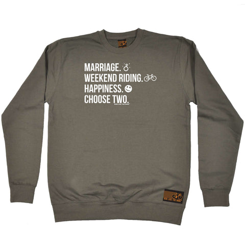 Ride Like The Wind Cycling Sweatshirt - Marriage Weekend Riding Happiness - Sweater Jumper