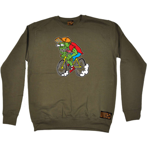 Ride Like The Wind Cycling Sweatshirt - Weirdo Cyclist - Sweater Jumper