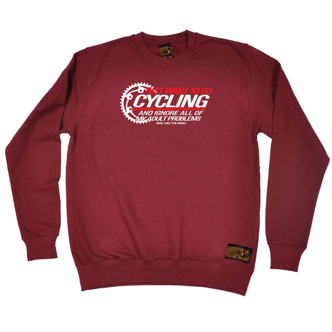 Ride Like The Wind Cycling Sweatshirt - Just Want To Go Cycling - Sweater Jumper