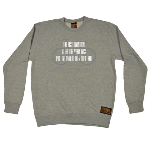 Ride Like The Wind Cycling Sweatshirt - The Best Invention After The Wheel - Sweater Jumper