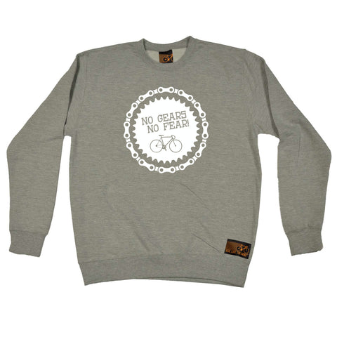 Ride Like The Wind Cycling Sweatshirt - No Gears No Fear - Sweater Jumper