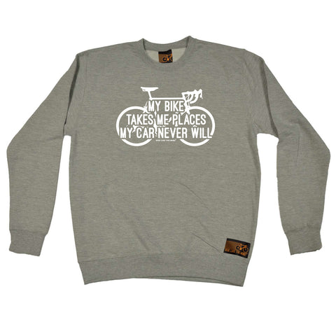 Ride Like The Wind Cycling Sweatshirt - My Bike Takes Me Places - Sweater Jumper