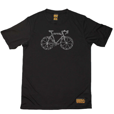 Ride Like The Wind Cycling Tee - Bike Part Words - Dry Fit Performance T-Shirt
