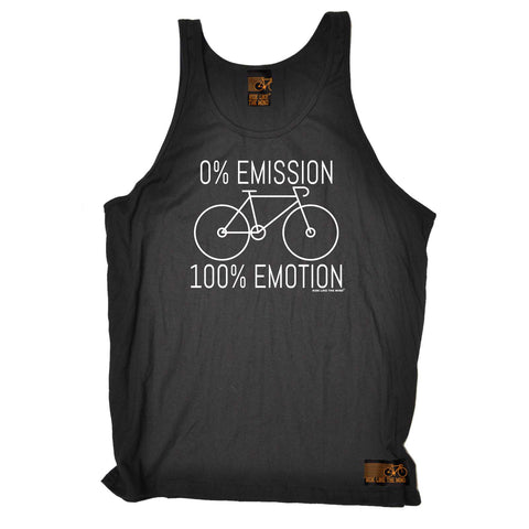 Ride Like The Wind Cycling Vest -  Emissions 1 Emotion - Bella Singlet Top