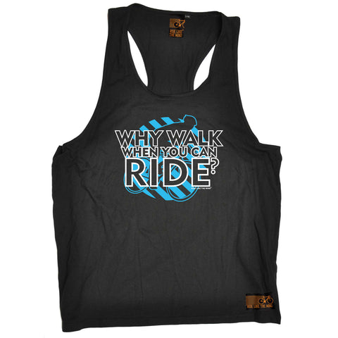 Ride Like The Wind Cycling Vest - Why Walk When You Can Ride - Bella Singlet Top