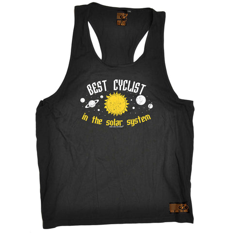 Ride Like The Wind Cycling Vest - Best Cyclist In The Solar System - Bella Singlet Top