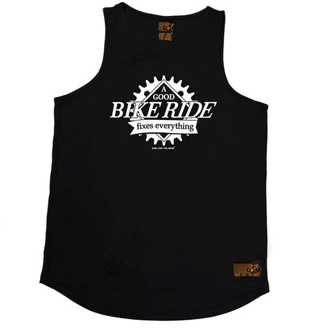 Ride Like The Wind Cycling Vest - A Good Bike Ride Fixes Everything - Dry Fit Performance Vest Singlet
