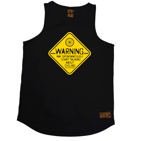 Ride Like The Wind Cycling Vest - Warning May Spontaneously Start Talking About Cycling - Dry Fit Performance Vest Singlet