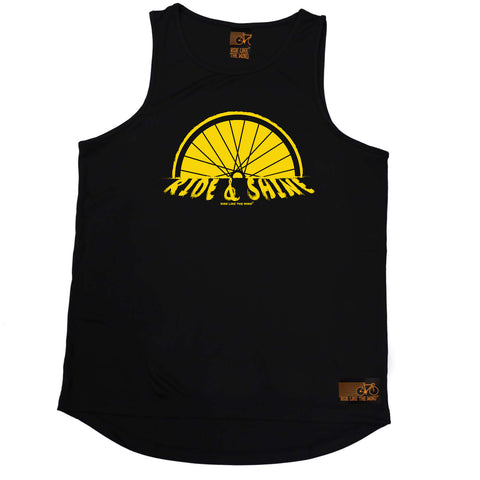 Ride Like The Wind Cycling Vest - Ride And Shine - Dry Fit Performance Vest Singlet