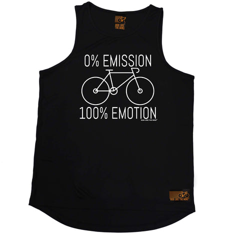 Ride Like The Wind Cycling Vest -  Emissions 1 Emotion - Dry Fit Performance Vest Singlet