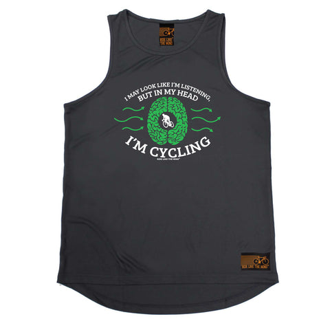 Ride Like The Wind Cycling Vest - I May Look Like Im Listening Cycling - Dry Fit Performance Vest Singlet