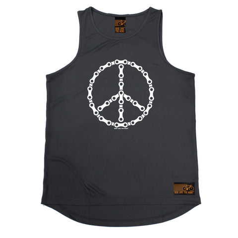 Ride Like The Wind Cycling Vest - Peace Chain - Dry Fit Performance Vest Singlet