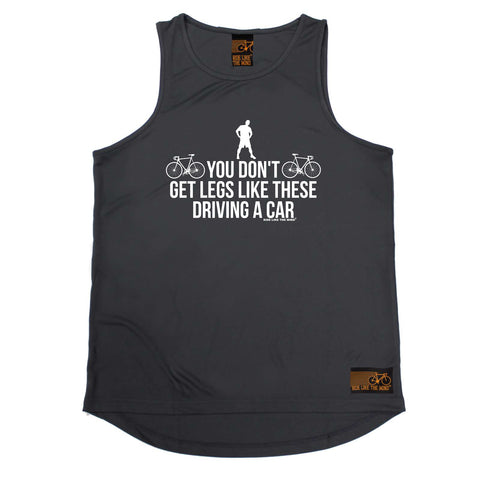 Ride Like The Wind Cycling Vest - You Dont Get Legs Like These Driving - Dry Fit Performance Vest Singlet