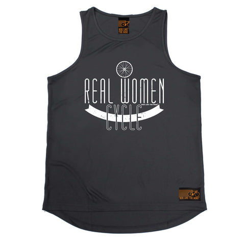 Ride Like The Wind Cycling Vest - Real Women Cycle - Dry Fit Performance Vest Singlet