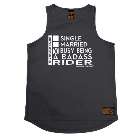 Ride Like The Wind Cycling Vest - Relationship Status Badass Rider - Dry Fit Performance Vest Singlet