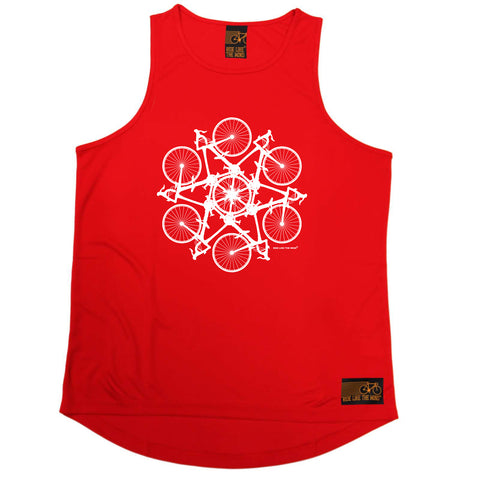 Ride Like The Wind Cycling Vest - Kaleidospoke - Dry Fit Performance Vest Singlet