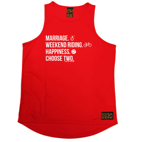 Ride Like The Wind Cycling Vest - Marriage Weekend Riding Happiness - Dry Fit Performance Vest Singlet