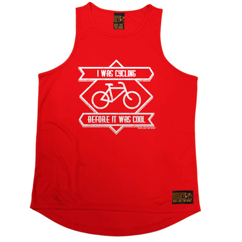 Ride Like The Wind Cycling Vest - Square I Was Cycling Before It Was Cool - Dry Fit Performance Vest Singlet