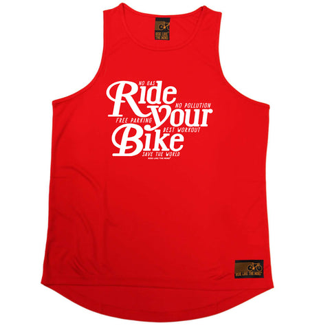 Ride Like The Wind Cycling Vest - Ride Your Bike - Dry Fit Performance Vest Singlet
