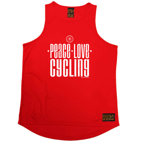 Ride Like The Wind Cycling Vest - Peace Love Cycling - Dry Fit Performance Vest Singlet