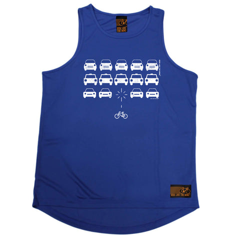 Ride Like The Wind Cycling Vest - Bike Vs Cars - Dry Fit Performance Vest Singlet