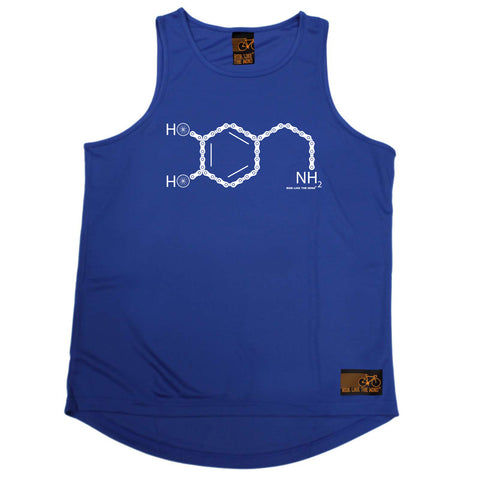 Ride Like The Wind Cycling Vest - Nh2 Bike Chain - Dry Fit Performance Vest Singlet