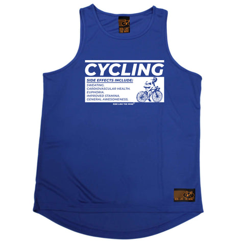Ride Like The Wind Cycling Vest - Cycling Side Effects - Dry Fit Performance Vest Singlet