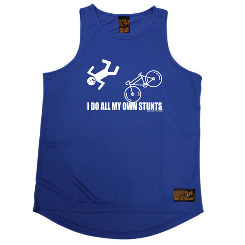 Ride Like The Wind Cycling Vest - I Do All My Own Stunts Cycle - Dry Fit Performance Vest Singlet
