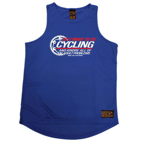 Ride Like The Wind Cycling Vest - Just Want To Go Cycling - Dry Fit Performance Vest Singlet