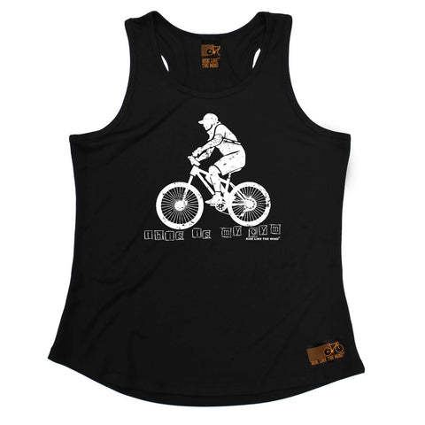Ride Like The Wind Womens Cycling Vest - This Is My Gym - Dry Fit Performance Vest Singlet