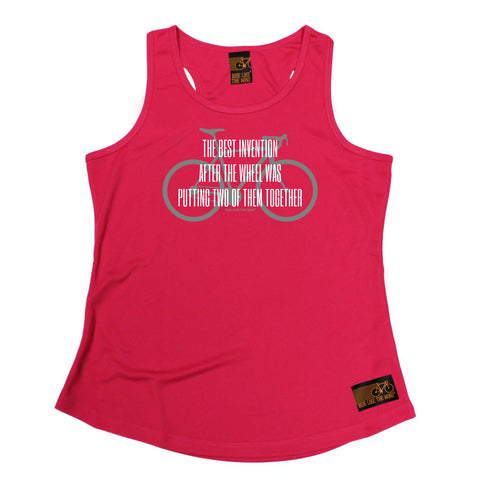 Ride Like The Wind Womens Cycling Vest - The Best Invention After The Wheel - Dry Fit Performance Vest Singlet