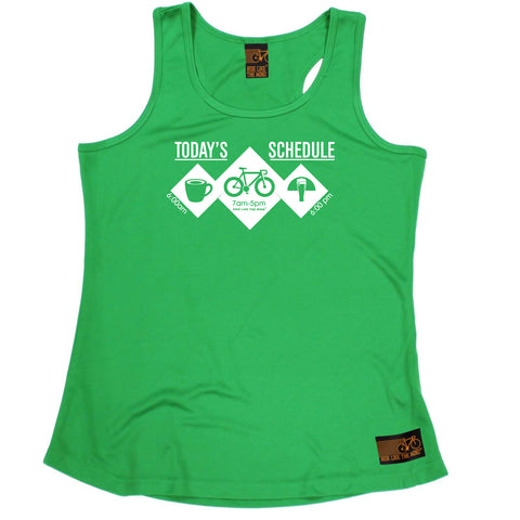 Ride Like The Wind Womens Cycling Vest - Todays Schedule - Dry Fit Performance Vest Singlet