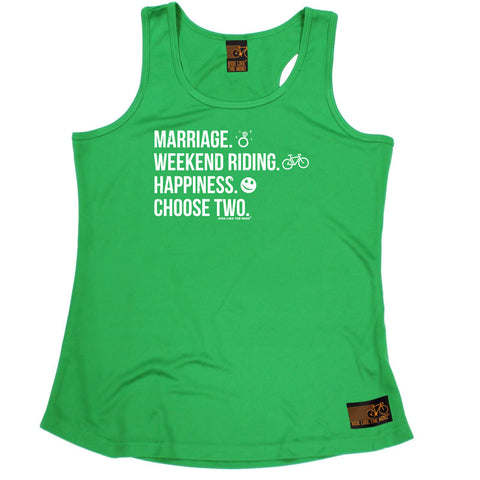Ride Like The Wind Womens Cycling Vest - Marriage Weekend Riding Happiness - Dry Fit Performance Vest Singlet