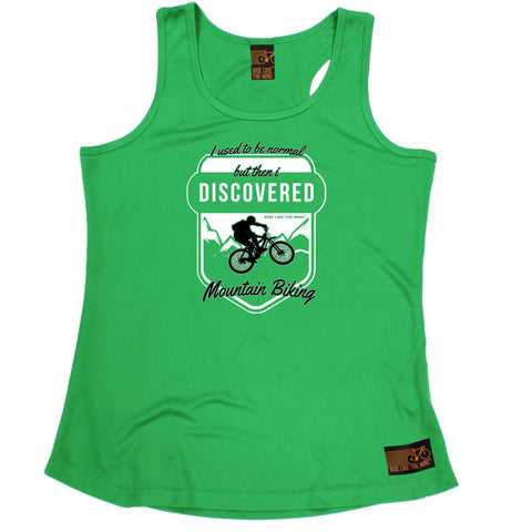 Ride Like The Wind Womens Cycling Vest - I Used To Be Normal Mountain Biking - Dry Fit Performance Vest Singlet
