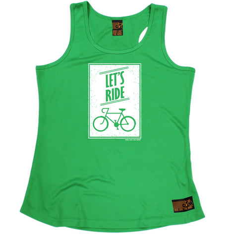 Ride Like The Wind Womens Cycling Vest - Lets Ride - Dry Fit Performance Vest Singlet