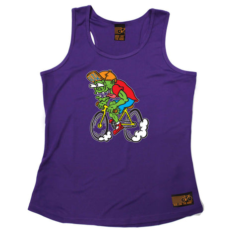 Ride Like The Wind Womens Cycling Vest - Weirdo Cyclist - Dry Fit Performance Vest Singlet
