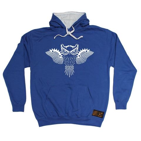 Ride Like The Wind Night Rider Owl Chain Design Cycling Hoodie