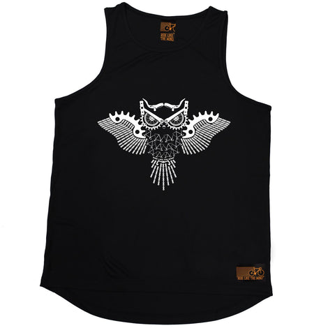 Ride Like The Wind Night Rider Owl Chain Design Cycling Men's Training Vest
