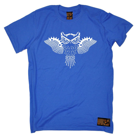 Ride Like The Wind Men's Night Rider Owl Chain Design Cycling T-Shirt