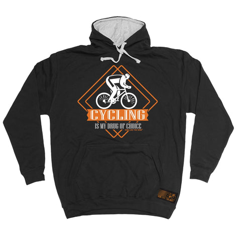 Ride Like The Wind Cycling Is My Drug Of Choice Hoodie