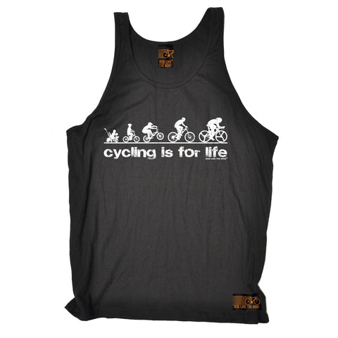 Ride Like The Wind Cycling Is For Life Vest Top