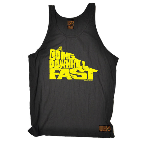 Ride Like The Wind Going Downhill Fast Cycling Vest Top