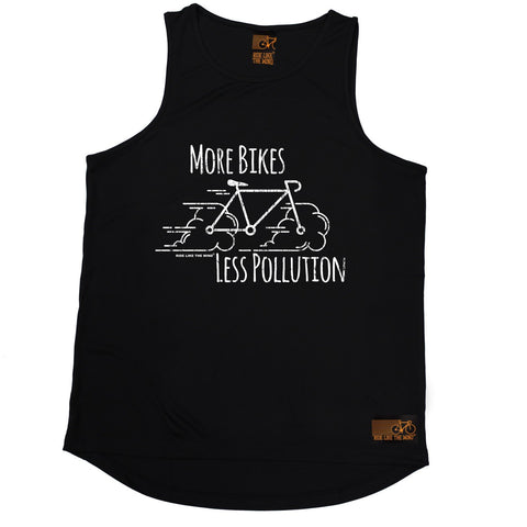 Ride Like The Wind More Bikes Less Pollution Cycling Men's Training Vest