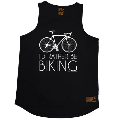 Ride Like The Wind I'd Rather Be Biking Cycling Men's Training Vest