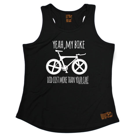 Ride Like The Wind Yeah My Bike Did Cost More Than Your Car Cycling Girlie Training Vest